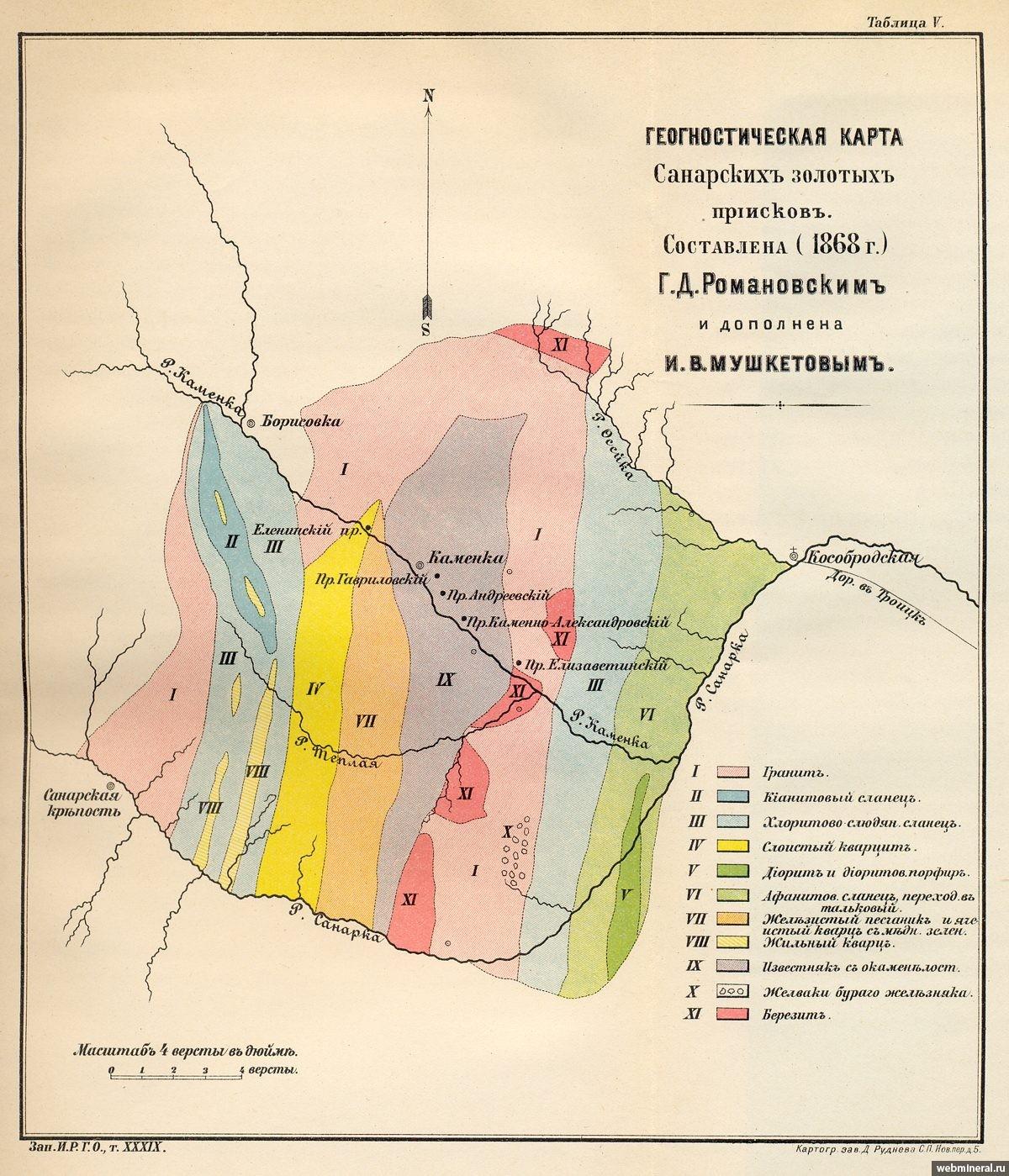 геологические карты россии золото того