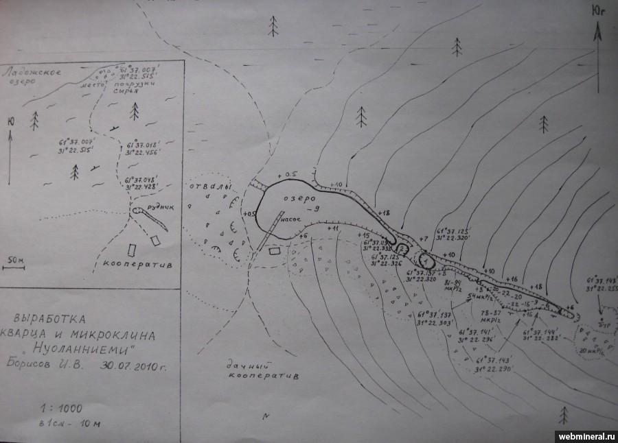 Схема расположения горных